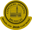 medaille or concours bruxelles 2010
